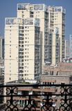 China Apartments. Chinese city and the china apartments Royalty Free Stock Photos