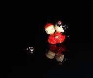 China-Art Hochzeits-Puppe und ein Ehering Stockfoto