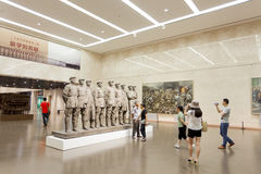 China  Art Museum interior exhibitions Royalty Free Stock Photography