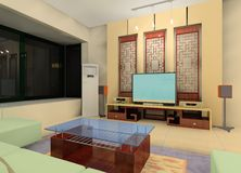 China-Artwohnzimmer stock abbildung