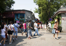 China and Asia, Beijing, the ancient street, Nanluogu Lane Royalty Free Stock Images