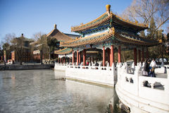 China Asia, Beijing, Beihai Park, historic buildings Stock Image