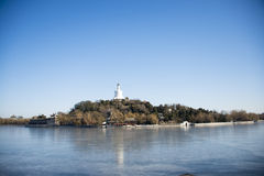China Asia, Beijing, Beihai Park, historic buildings Royalty Free Stock Images