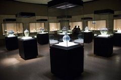 China Asia, Beijing, the capital museum, the ancient fine porcelain art exhibition Stock Photos