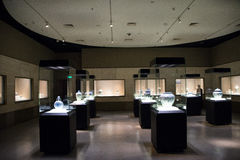 China Asia, Beijing, the capital museum, the ancient fine porcelain art exhibition Royalty Free Stock Photo