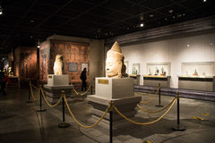 China Asia, Beijing, the capital museum, Kampuchea Angkor relics and Art Exhibition Stock Images