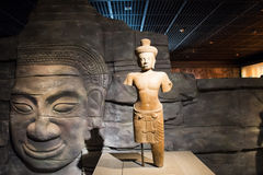 China Asia, Beijing, the capital museum, Kampuchea Angkor relics and Art Exhibition Stock Photo