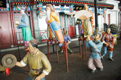 China Asia, Beijing, the capital museum, sculpture, old Beijing folk customs Stock Photos