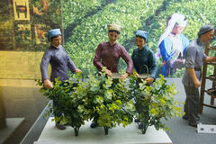 China Asia, Beijing, the capital museum, theme sculpture, tea culture Stock Photo