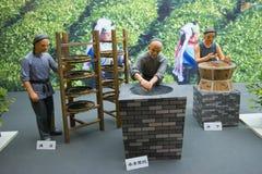China Asia, Beijing, the capital museum, theme sculpture, tea culture Stock Photos