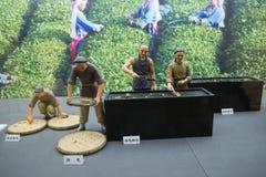 China Asia, Beijing, the capital museum, theme sculpture, tea culture Stock Photography
