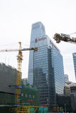 China Asia, Beijing, Central Business District, in the construction of CBD,tower crane Royalty Free Stock Photos