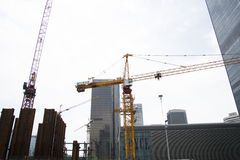 China Asia, Beijing, Central Business District, in the construction of CBD,tower crane Stock Images