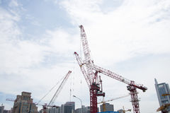 China Asia, Beijing, Central Business District, in the construction of CBD,tower crane Stock Image