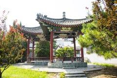 China Asia, Beijing, China culture garden, garden building,Pavilion Stock Image