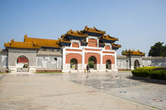 China Asia, Beijing, China culture garden, garden building,arch Stock Image