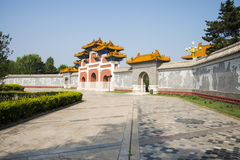 China Asia, Beijing, China culture garden, garden building,Culture wall, arch Royalty Free Stock Images