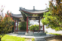 China Asia, Beijing, China culture garden, garden building,Pavilion Stock Image