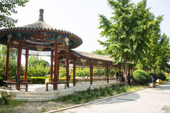 China Asia, Beijing, China culture garden, garden building, Pavilion Stock Images