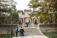 China, Asia, Beijing, the Fragrant Hill Park �the Temple of the Azure Clouds Royalty Free Stock Images