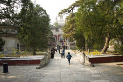 China, Asia, Beijing, the Fragrant Hill Park ,the Temple of the Azure Clouds Stock Photo