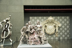 China Asia, Beijing, the National Grand Theater, indoor sculpture Royalty Free Stock Photo