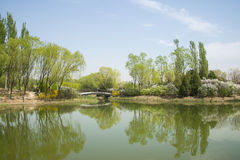 China Asia, Beijing, the Olympic Forest Park, garden landscape Stock Photos