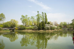 China Asia, Beijing, the Olympic Forest Park, garden landscape Stock Image