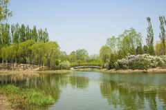 China Asia, Beijing, the Olympic Forest Park, garden landscape, Royalty Free Stock Photo