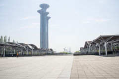 China Asia, Beijing, the Olympic Forest Park, the modern building, Gallery, frame, lookout tower, Royalty Free Stock Photo