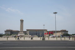 China Asia, Beijing, the people's Heroes Monument, the Great Hall of the people Royalty Free Stock Photos