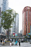 China and Asia, Beijing, Sanlitun SOHO, modern buildings, commercial district Stock Photos