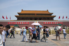 China Asia, Beijing, the Tiananmen gate Stock Photography