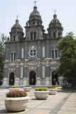 China and Asia, Beijing, the Wangfujing, the Catholic Church, the Eastern Church Stock Photography