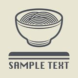 China or Asia food dish icon or sign. Vector illustration Royalty Free Stock Photo