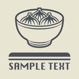 China or Asia food dish icon or sign. Vector illustration Stock Photography