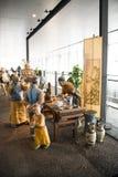 China Asia, Pekín, el museo capital, escultura, viejas aduanas de la gente de Pekín Imagen de archivo libre de regalías