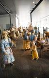 China Asia, Pekín, el museo capital, escultura, viejas aduanas de la gente de Pekín Foto de archivo libre de regalías