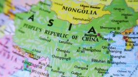 China. Asia. Terrestrial Globe 4K stock footage