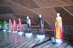 China Asien, Peking, das nationale großartige Theater, Ausstellungshalle, Theater-Kleidung Lizenzfreie Stockfotos