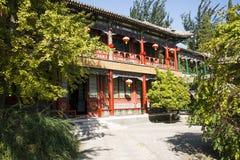 China, Asien, Peking, der großartige Ansicht-Garten, antike Gebäude Stockbild