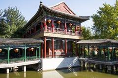 China, Asien, Peking, der großartige Ansicht-Garten, antike Gebäude Stockfoto