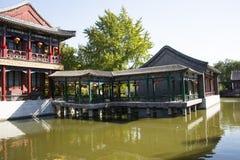 China, Asien, Peking, der großartige Ansicht-Garten, antike Gebäude Stockbilder