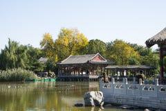 China, Asien, Peking, der großartige Ansicht-Garten, antike Gebäude Stockfotografie