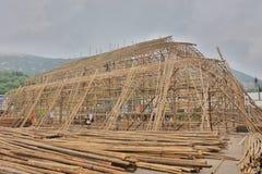 China bamboo opera building at shek o. The china bamboo opera building at shek o Royalty Free Stock Images