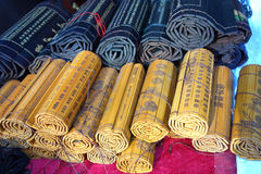 China bamboo slips Royalty Free Stock Photography