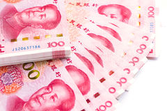 China banknotes close-up. Stock Photos