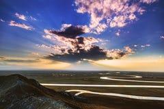China Bayinbuluke grassland in Xinjiang Stock Photography