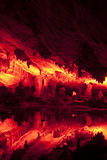 Beautifully illuminated Reed Flute Cave, Guilin, China Stock Photography