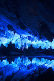 Beautifully illuminated Reed Flute Cave, Guilin, China Royalty Free Stock Photography